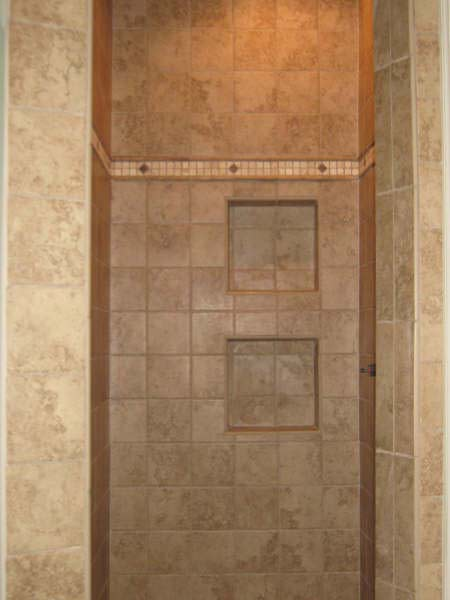 Earth-toned Tile Shower